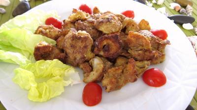 huile de colza : Assiette de gambas au parmesan