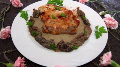 Escalopes de dinde sauce aux morilles - 9.4