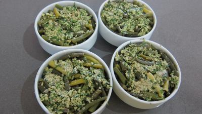 Haricots verts et courgettes gratinés aux fines herbes - 6.3