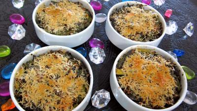 Recette Haricots verts et courgettes gratinés aux fines herbes
