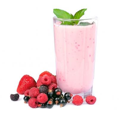 Photo : Smoothie aux fruits rouge
