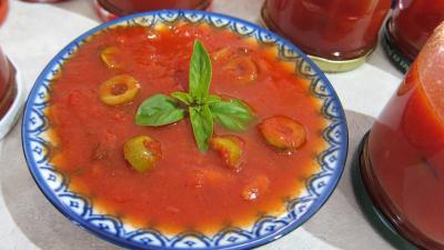 Recette Sauce tomates aux olives (conserve)