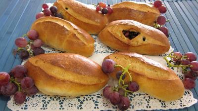 Recette Pain au lait aux raisins frais et cranberries secs