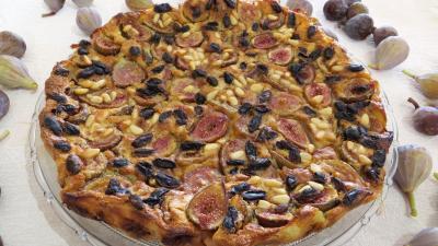 Lait d'amande : Assiette de clafoutis aux figues