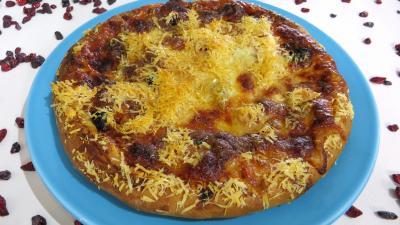 pizza au fromage : Assiette de pizza hawaïenne
