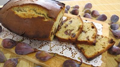 Recette Plat de cake aux figues en tranches