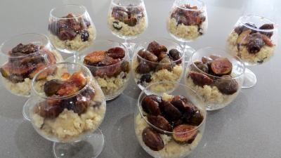 Couscous sucré aux figues en verrines - 5.3