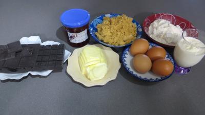 Ingrédients pour la recette : Brownies au chocolat