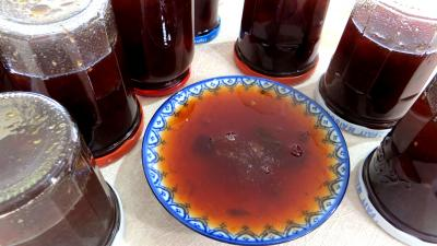 Confitures : Coupelle de confiture aux restes de sangria et fruits