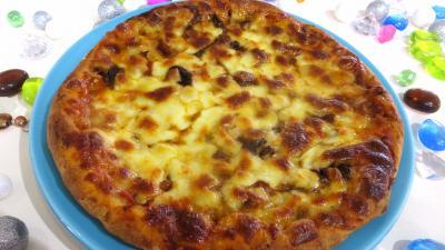 Image : Assiette de pizza forestière