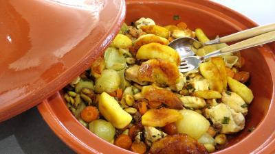 Recette Tagine de blancs de poulet aux pommes