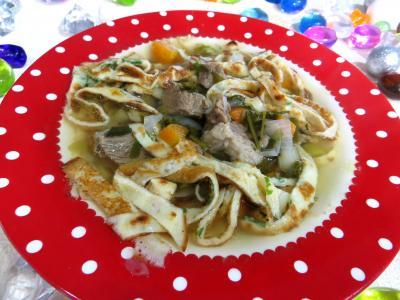 Image : Assiette de consommé Célestine