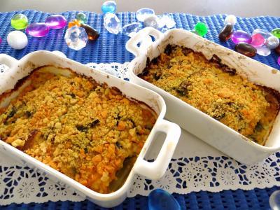 plat complet : Cassolettes de poireaux et églefins faciles en cassolettes