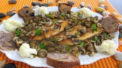plat complet : Assiette de matelote de truites et moules