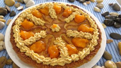 Image : Plat de galette des rois aux kakis