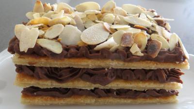 Amande effilée : Mille-feuilles au chocolat