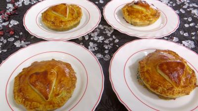 foie volaille : Assiettes de tourtelettes aux foies de volaille