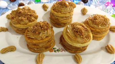 Pralin à ma façon : Millefeuilles à la crème pâtissière pralinée