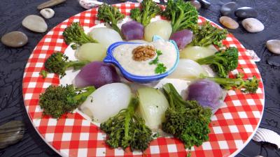 Oignons et brocolis à la vapeur - 2.4