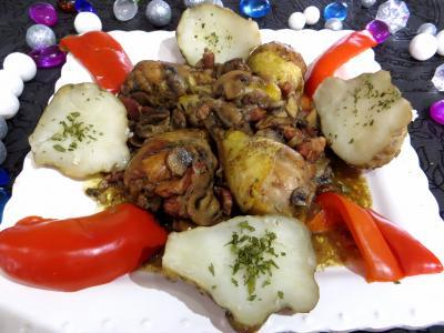Recette Pilons de poulet à la bourguignonne