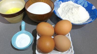 Ingrédients pour la recette : Génoise