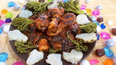 plat complet : Assiette de ragoût de poulet