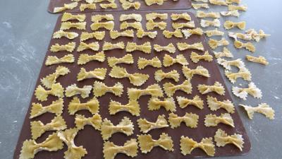 Recette Pâtes fraîches papillons à la semoule de blé