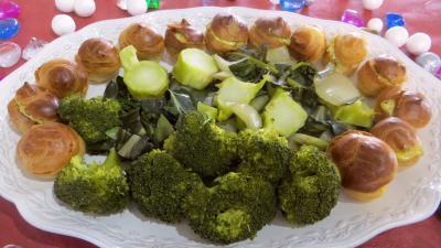 Recette Choux farcis et blettes vapeur à la sauce tartare