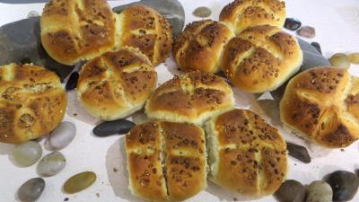 Recette Petits pains rustiques aux grains de blé