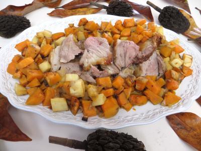 Recette Assiette d'épaule d'agneau au romarin, patate douce et panais
