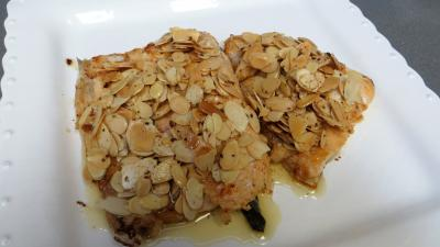 Filets de truite aux amandes et ananas - 6.3
