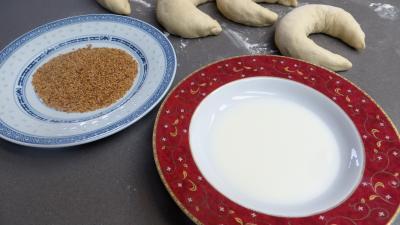 Pains croissants aux lardons et oignons - 7.1