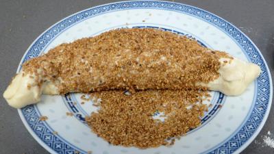 Pains croissants aux lardons et oignons - 7.3
