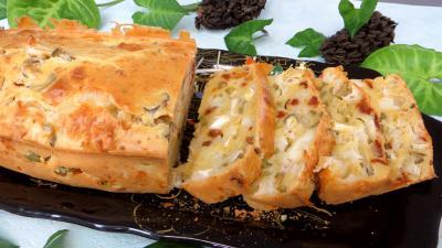 cake : Assiette de cake au fromage de chèvre