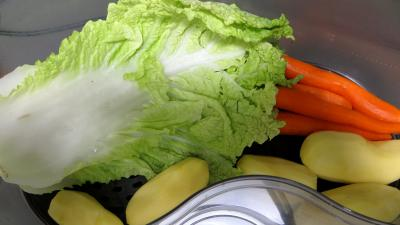 Brochettes de boeuf et légumes à la vapeur - 3.2