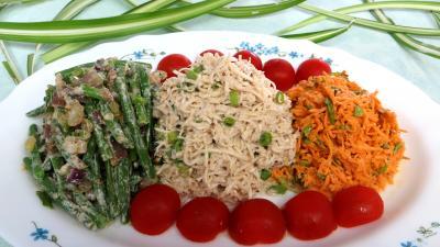 céleri-rave : Assiette de céleri rémoulade et crudités
