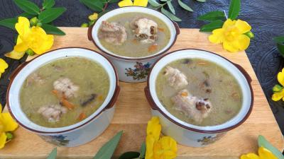 Recette Soupe de lentilles à la saumonette