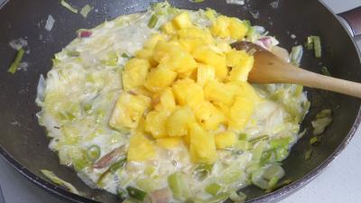 Tagliatelles fraîches aux oignons et ananas - 6.2