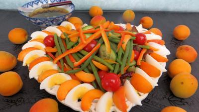 Recette Salade d'été aux abricots
