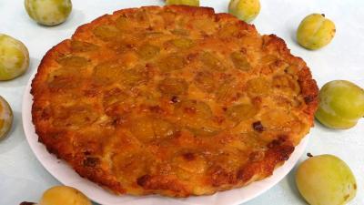 Recette Clafoutis aux prunes jaunes