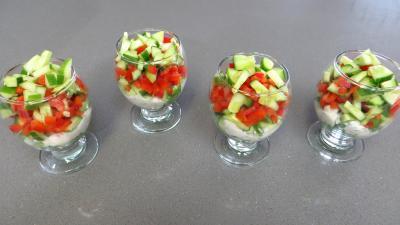 Fromage blanc aux concombres en verrines - 6.1
