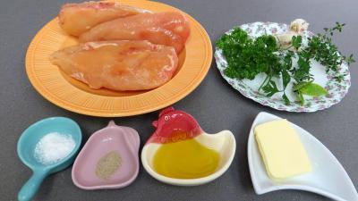 Ingrédients pour la recette : Blancs de poulet sautés dauphinois