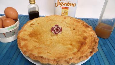rhum blanc : Assiette de tarte aux prunes jaunes