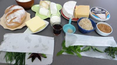 Ingrédients pour la recette : Gâteau de fromages
