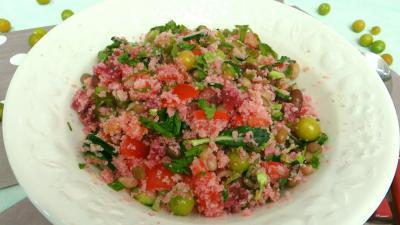Recette Saladier de salade de couscous aux physalis