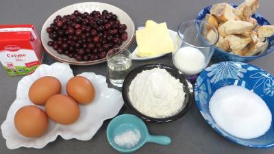 Ingrédients pour la recette : Clafoutis au cassis
