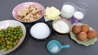 Ingrédients pour la recette : Clafoutis aux physalis