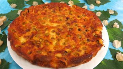 Image : Assiette de clafoutis aux physalis