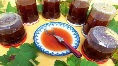 Recette Gelée de raisins au reste de punch