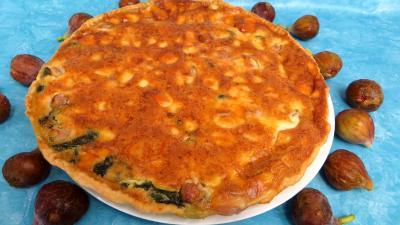 fromage de chevre : Tarte aux épinards et chèvre frais